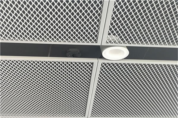 expanded diamond shaped aluminum ceiling mesh
