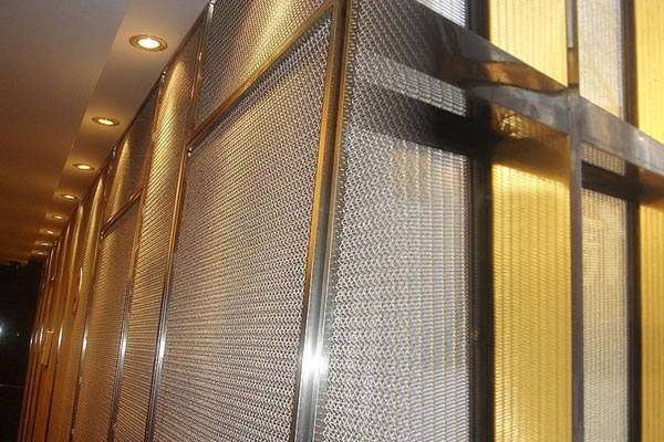 Brass screen partition curtains